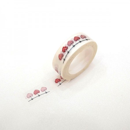 Design Paper Masking Tape heart Garland TA094