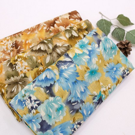 Gauze Fabric Pure Cotton Gauze Fabric Print Chrysanthemum 3