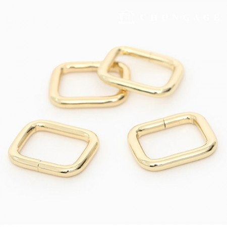 Bag connection square ring ㅁ ring basic square ring 15mm 4 types