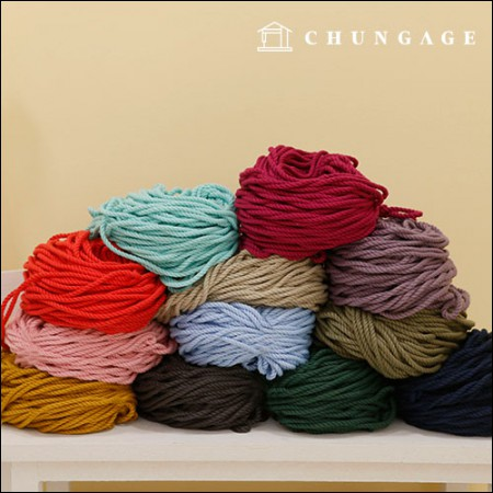 12 kinds of macrame color piping straps
