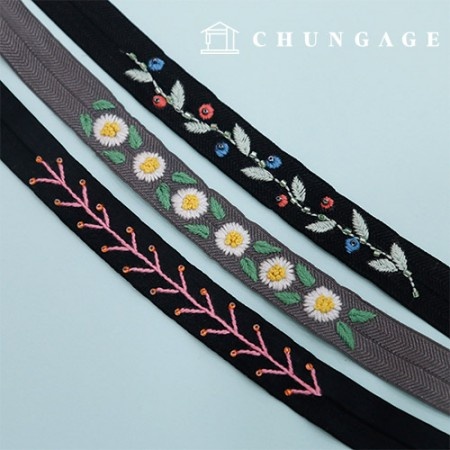 French Embroidery Package Flower DIY Kit Rubber Band Ribbon Cord A CH-512528