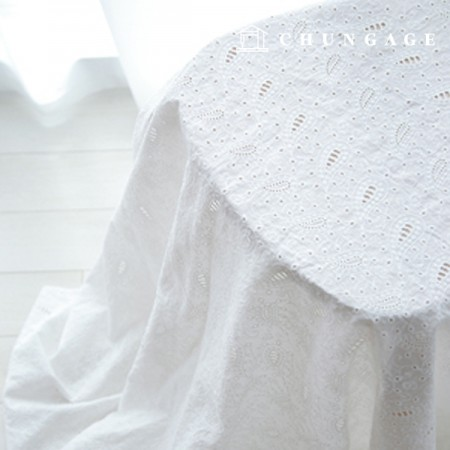 Cotton Race Embroidery Fabric Paisley Flower Bag Eye