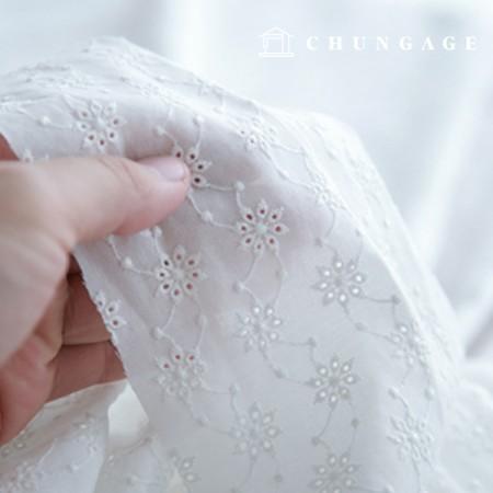 Cotton Race Embroidery Fabric Mini Punching Flower Bag Eye