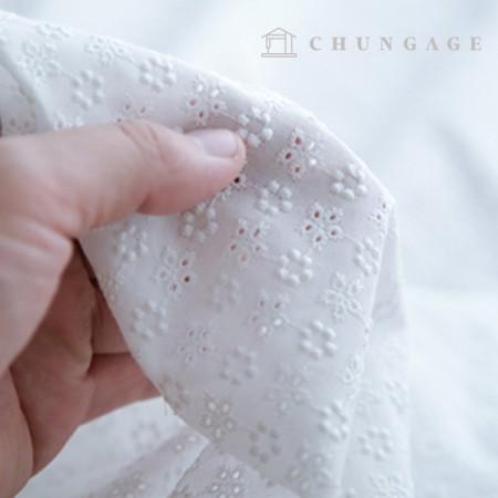 Cotton Race Embroidery Fabric Mini Flower Bag Eye