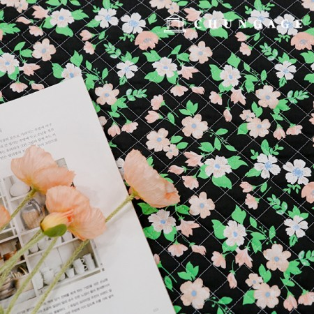 20 cotton plain fabric quilting fabric retro flower