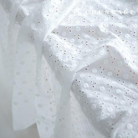 Cotton Race Embroidery Fabric Dandelion Flower Bag Eye