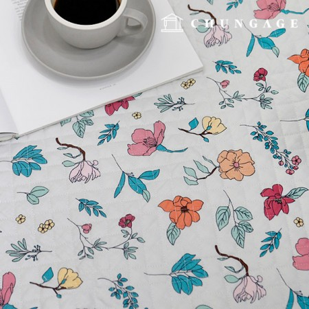 Cotton 20 Count Plain Weave Fabric quilting Fabric Botanical Flower