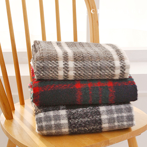 3 kinds of limited-price wool blend yarn dye check coat fabric Libre
