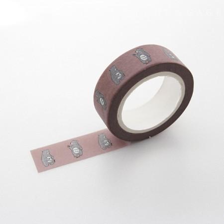 Design Paper Masking Tape Chess Bear TA059