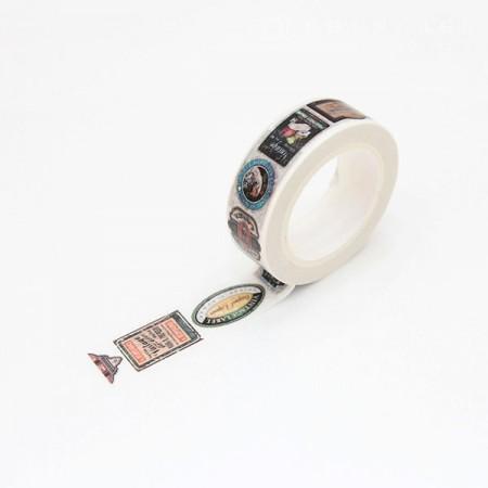 Design Paper Masking Tape Vintage Label TA078