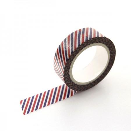 Design Paper Masking Tape Diagonal Stripe Blue&Red TA080