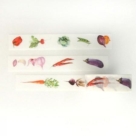Design Paper Masking Tape Vegetable TA089