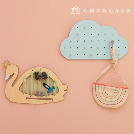 Wood perforated prop hanger cloud