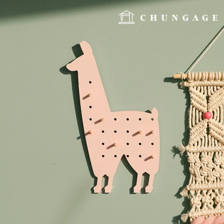 Wood Lattice version accessory hanger pink llama