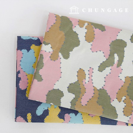 2 types of 30-piece Washing Denim Fabric Punching Dot Camo