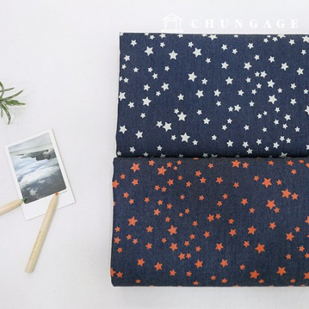 Washing Denim Fabric Mini Star 2 Types