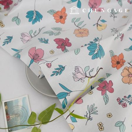 Waterproof fabric non-toxic TPU laminate cloth botanical flower