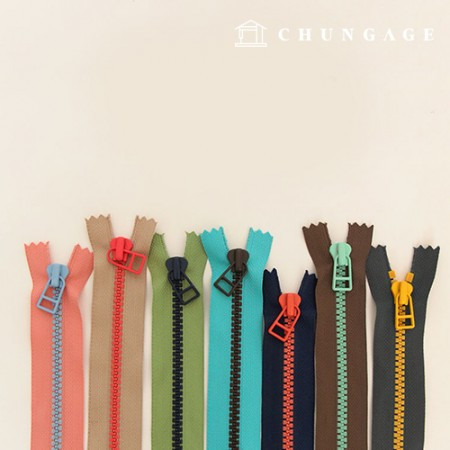 Two-color mix zipper 5 15cm 7 types