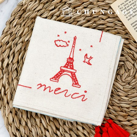 French Embroidery Package DIY Kit Mercy Handkerchief CH-513515