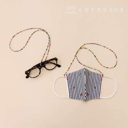 Domestic production Beads Mask Necklace Mask Strap String Loss prevention line Glasses line 2 finished products