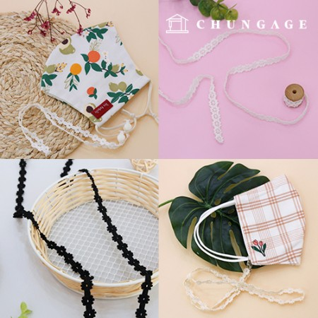 Race Mask Necklace line Race Mask Strap making material collection exhibition