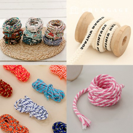 Fabric string Mask Necklace line Strap making Material collection exhibition