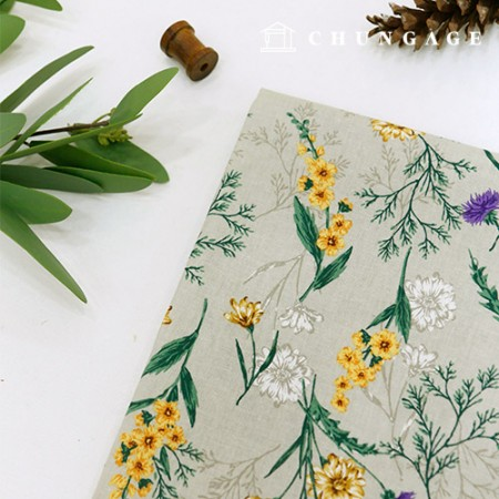 Linen Fabric Summer Fabric Cotton Hemp Marigold