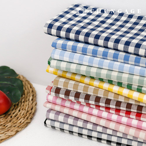 Cotton Fabric 20 Count Ombre Dyed Check Gingham Check Fabric 14 Types