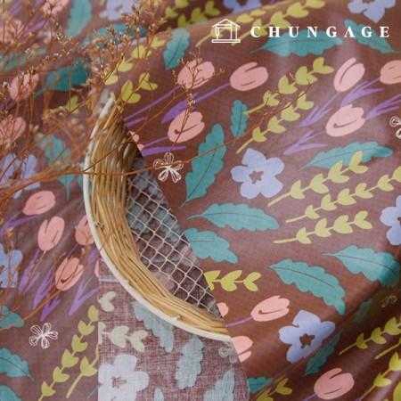 Waterproof Fabric Non-toxic TPU Laminate Fabric Midnight Garden