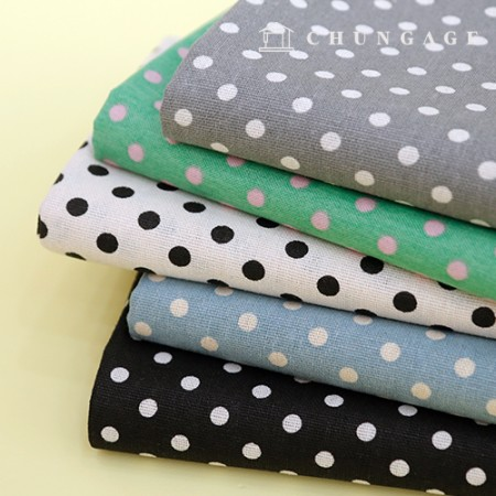 Cotton Fabric Dot Print Fabric Wide Polka Dot 5 Types
