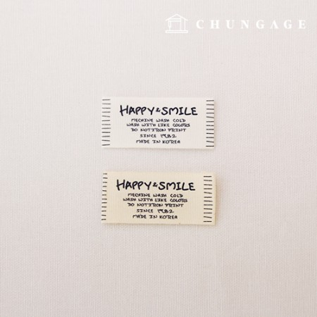 Bilateral label Happy&Smile 2 types, 5 pieces KL033