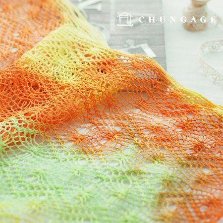 Wide color knitting knit yellow orange