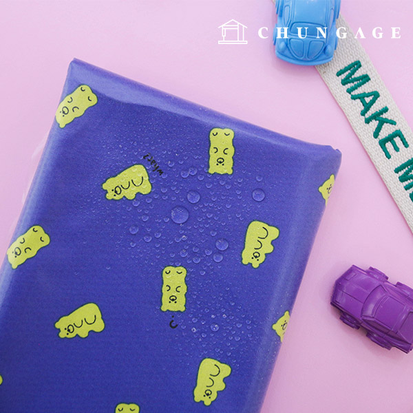Waterproof Fabric Non-toxic TPU Laminate Fabric Jelly Bear