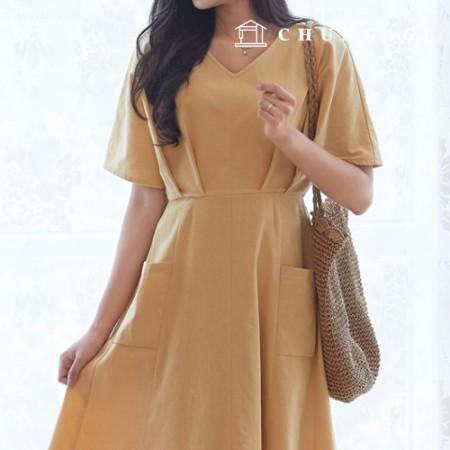 Clothing pattern Women's dress clothing pattern [P1381]