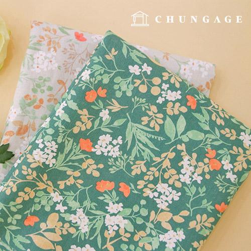 Linen Fabric Large Cotton Linen Fabric Flower Dance 2 types