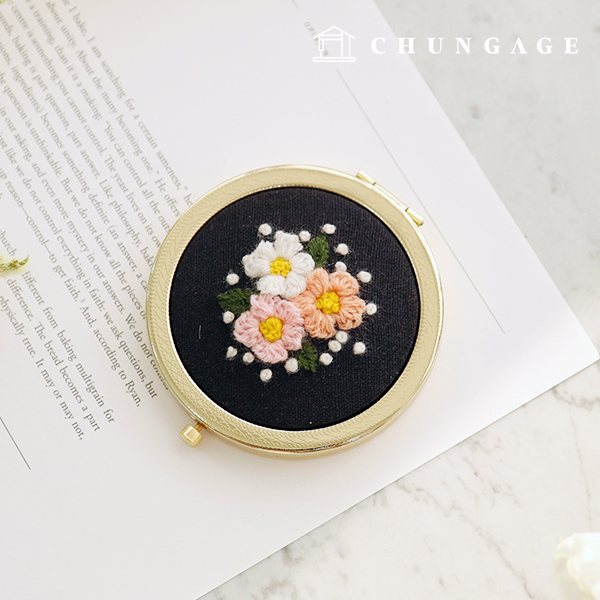French Embroidery Package Flower DIY Kit Lydia Mirror CH-512027