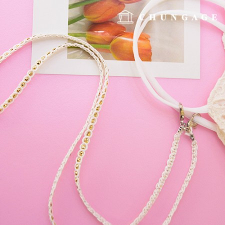 Mask line necklace thin string twinkle 2 types