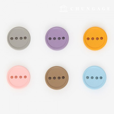 Plastic button, pastel 4 hole mix button 11mm