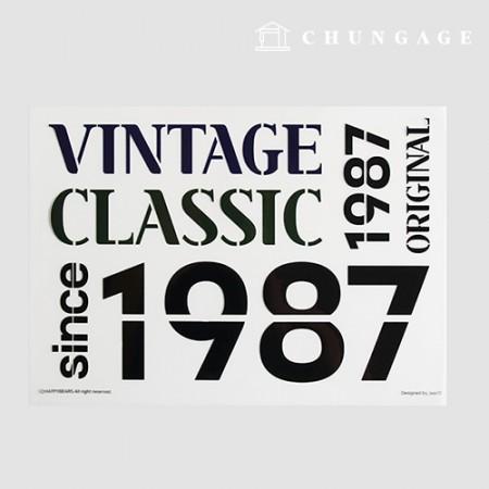 Transfer paper iron sticker vintage classic 1987