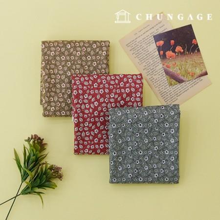 20 Cotton Fabric Secret Garden, 3 types