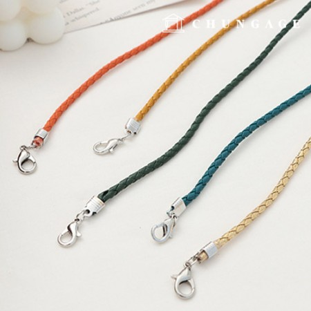 Screw Leather Cord 3mm Mask Necklace Making Materials 5 Types