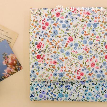 20 Cotton Fabric Romance Flora 2 Types