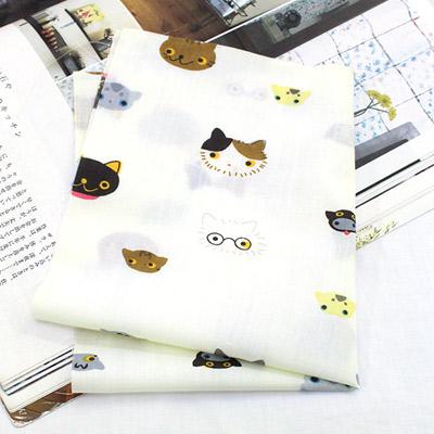 Cotton blend) Mini Cat 5 kinds (Ivory) [2831]