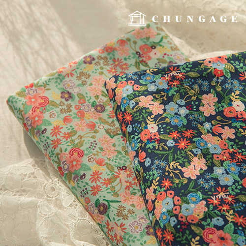20 cotton fabric 2 kinds in flower garden