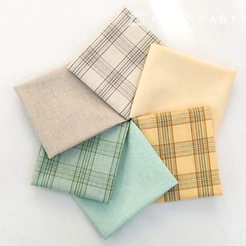 Cotton Fabric Melan Ombre Washing Check Fabric Plain Fabric Wendy 6 types