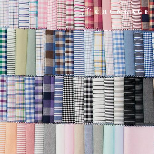 Cotton Check Fabric Yarn Dyed Check Stripe Plain Fabric 75 Types