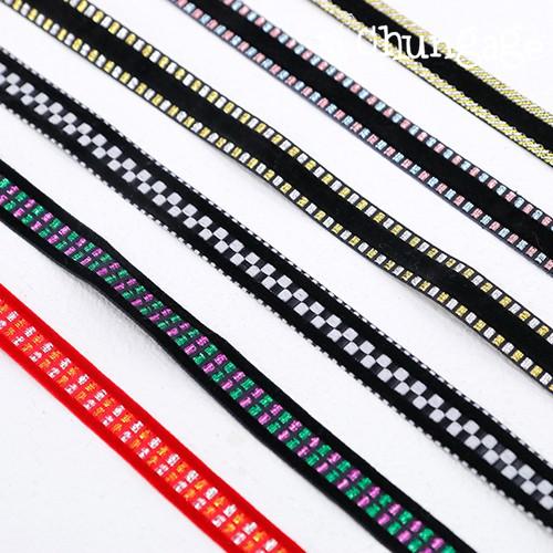 Velvet ribbon string Velvet stitch ribbon tape 15mm 6 kinds cotton string