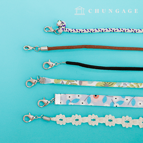 Mask Necklace 2 Pieces Line Strap Making Materials 6 Types Tongs