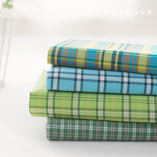 Cotton Fabric Check Fabric Ombre 20 Count Vintage Check Fresh 4 Types