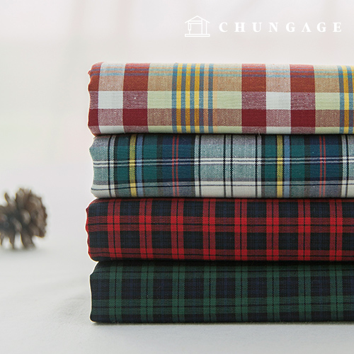 Cotton Fabric Check Fabric Pre-dyed 20 Count Vintage Check Dike 4 Types